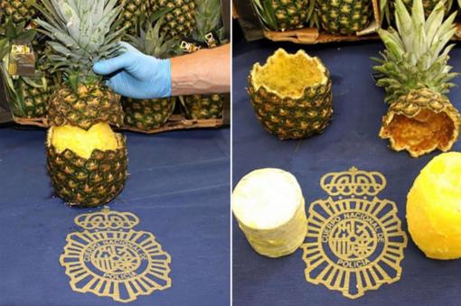 Ispanijos policija konfiskavo kokaino prikimštų ananasų siuntą