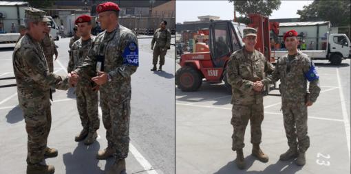 Afganistane tarnaujantį Lietuvos karo policininką apdovanojo NATO operacijos vadas