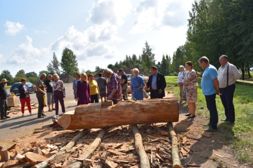 Prasidėjo medžio skulptorių pleneras