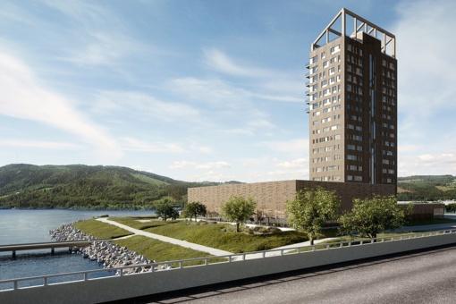 Norvegija stato aukščiausią pasaulyje medinį pastatą