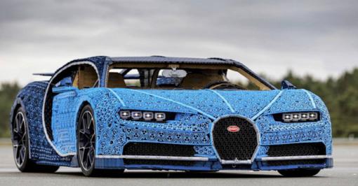 """""""Bugatti Chiron""""– iš milijono LEGO kaladėlių"""