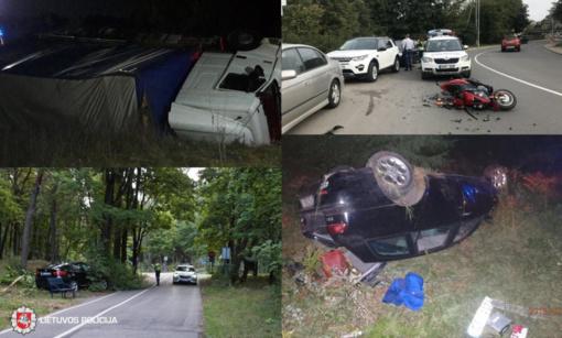 Avariją Utenos rajone sukėlė girtas vairuotojas