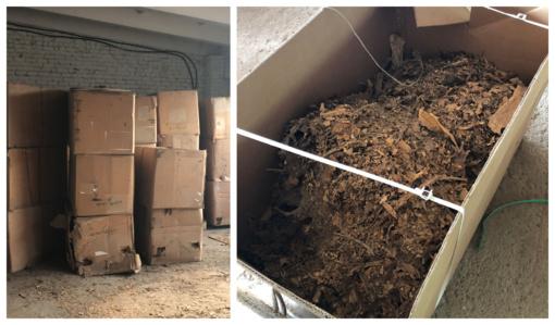 Lazdijų rajone aptiktas sandėlis su nelegaliu milijono eurų vertės apdoroto tabako kroviniu (vaizdo įrašas)