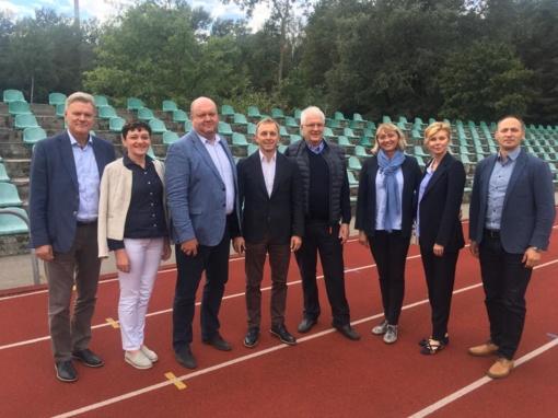 Baltijos šalių lengvosios atletikos vadovų susitikime - EA prezidento vizitas