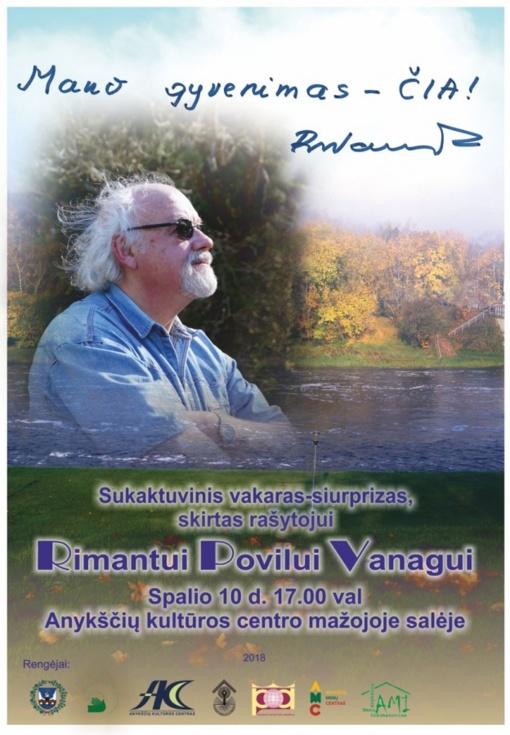 Rašytojo Rimanto Povilo Vanago jubiliejus