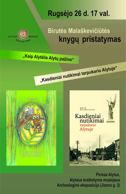 """Visai nekasdienis nutikimas – nauja Birutės Malaškevičiūtės knyga """"Kasdieniai nutikimai tarpukario Alytuje"""""""