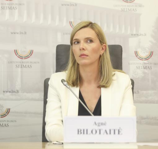 Seimo narė A. Bilotaitė sieks Klaipėdos mero posto
