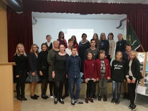N. Valterio mokykloje - aplinkosauginė konferencija