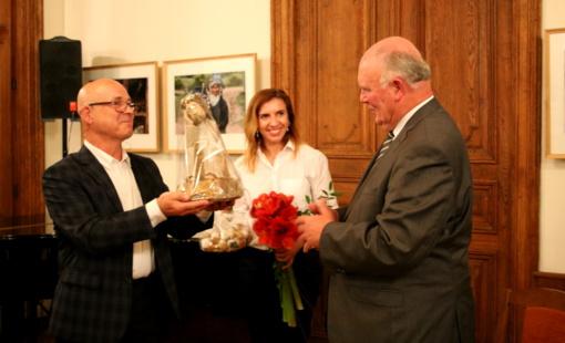 Mero vardu pasveikintas Lazdijų krašto garbės pilietis V. Sventickas