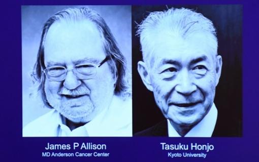 2018-ųjų Nobelio medicinos premija paskirta amerikiečiui ir japonui už vėžio terapiją