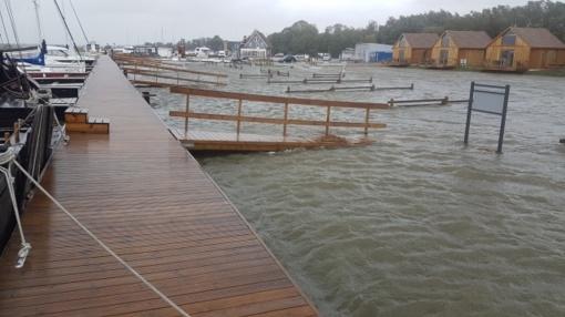 Potvynio metu labiausiai baimintasi vėjo