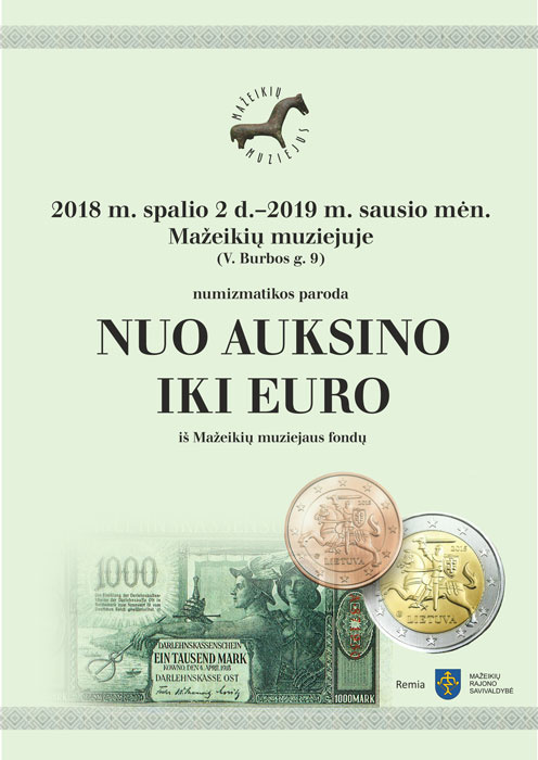 "Numizmatikos paroda ""Nuo auksino iki euro"""