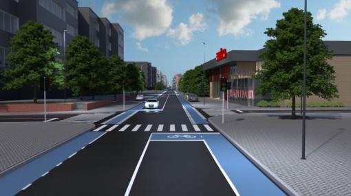 Aušros gatvės rekonstrukcija: saugūs pėstieji, dviratininkai ir vairuotojai