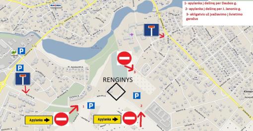 Spalio 6-7 dienomis bus ribojamas eismas Ąžuolų ir Kreivosios gatvėmis