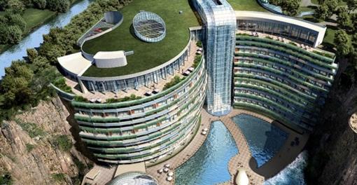 Šanchajuje duris atvers pirmasis pasaulyje požeminis viešbutis