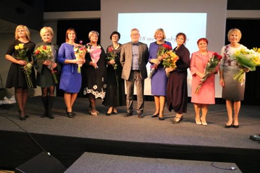 Tarptautinės mokytojų dienos proga pagerbti Šiaulių pedagogai (fotogalerija)