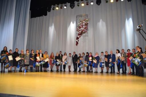 Muzika ir padėkomis pasveikinti Mažeikių rajono mokytojai