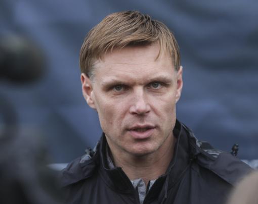 Lietuvos futbolo rinktinės treneris E. Jankauskas: norime mušti įvarčius