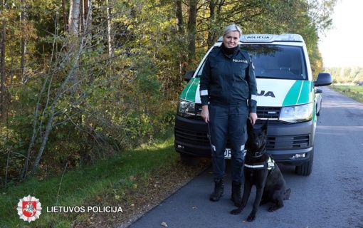 Sunkus kasdieninis kinologės darbas su tarnybiniu šunimi atsipirko – niekadėjas sulaikytas