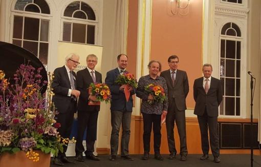 """Rašytojui A. Šlepikui ir vertėjui M. Roduneriui Berlyne įteikta G. Dehio premija už romaną """"Mano vardas - Marytė"""""""