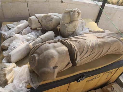 Jordanijoje atrastos romėniškos graikų dievų skulptūros