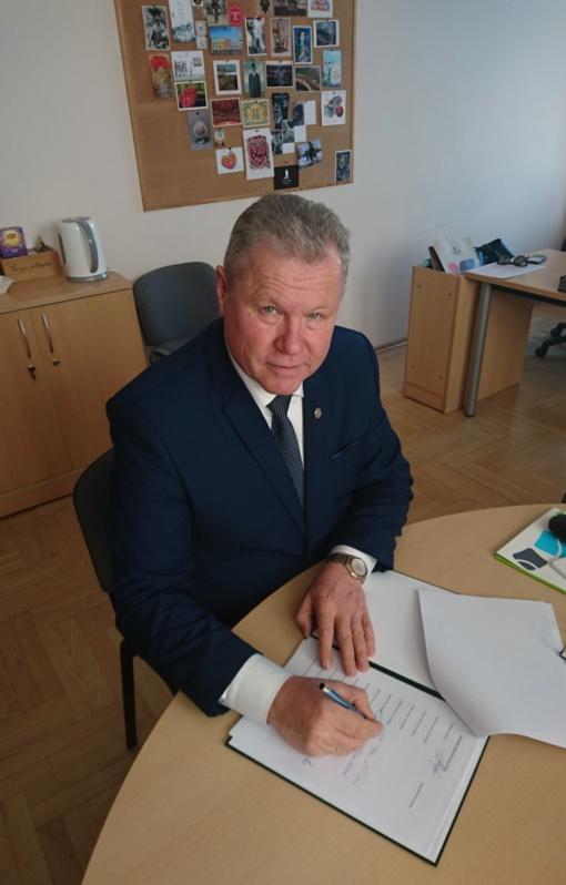 Anykščių rajono savivaldybės meras pasirašė memorandumą