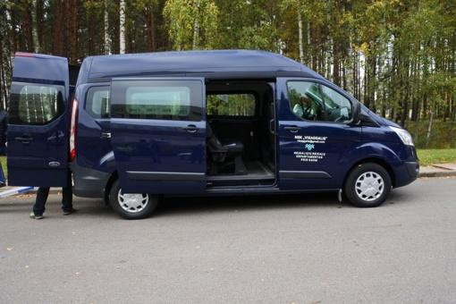 Naujas ir patogus mikroautobusas Visagino neįgaliesiems