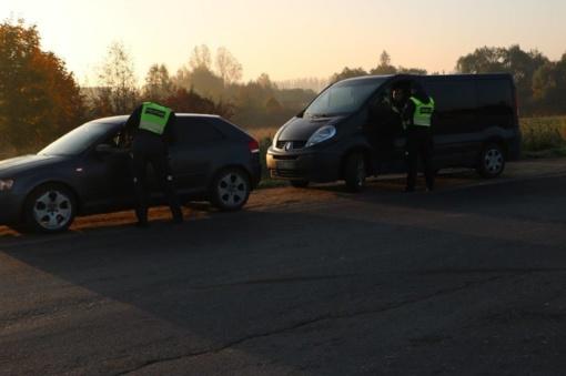 Tauragėje – netikėtas policijos pareigūnų reidas
