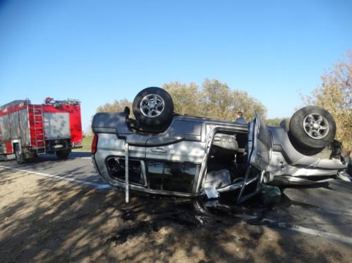 Prienų rajone per avariją susižalojo vairuotojas
