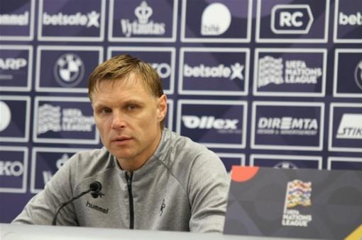 Lietuvos futbolo rinktinės treneris E. Jankauskas: pasikeitimų rinktinės sudėtyje bus