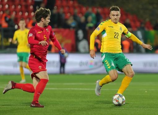 Lietuvos futbolininkai pralaimėjo Juodkalnijos komandai