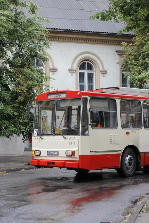 Vilniuje dėl užkliudyto kontaktinio tinklo sutriko troleibusų eismas