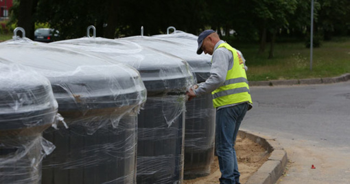 Patvirtintos naujai įrengiamų požeminių komunalinių atliekų konteinerių aikštelių schemos