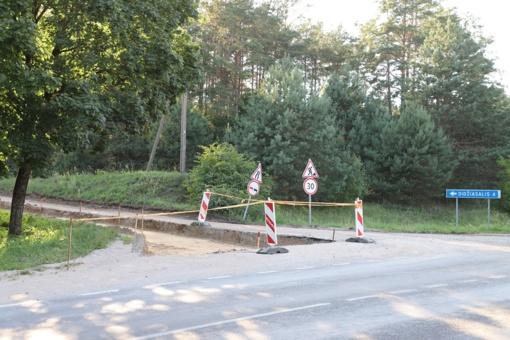 Kelio į Didžiasalį asfaltavimo darbus planuojama baigti šiais metais