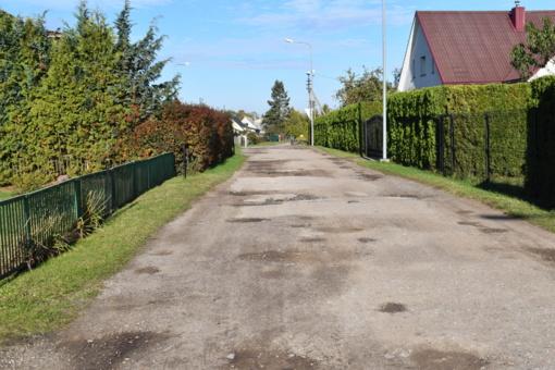 Prasidės Rožių gatvės asfaltavimo darbai