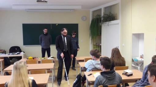 Lietuvos aklųjų ir silpnaregių sąjungos dienos Anykščių mokyklose