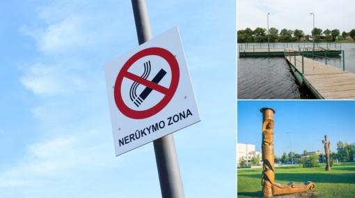 L. Šepkos parkas ir Rokiškio ežero paplūdimys – be tabako dūmų