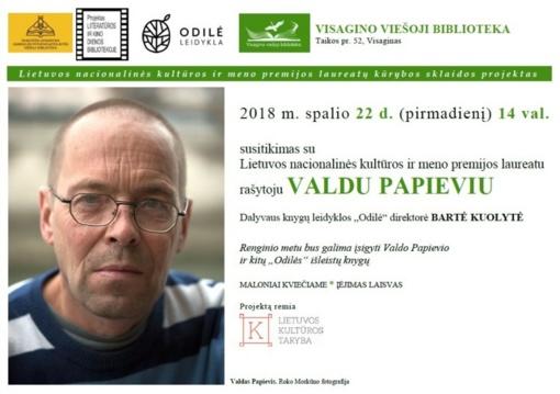 Susitikimas su rašytoju Valdu Papieviu