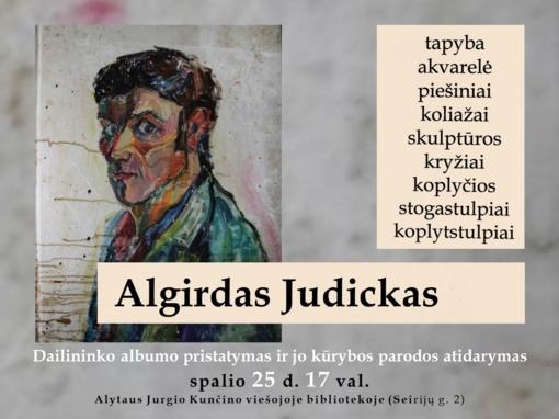 Bibliotekoje – Algirdo Judicko paroda ir albumas