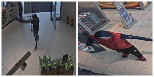 Ieškomi alkoholinių gėrimų vagyste įtariami vyrai