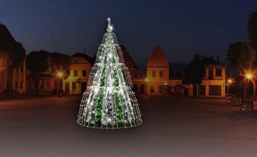 Plungiškiai išsirinko: Kalėdų eglė atrodys tarsi tekantis fontanas
