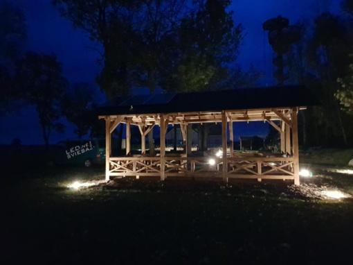 Prie Krekenavos regioninio parko lankytojų centro įrengtas lauko apšvietimas