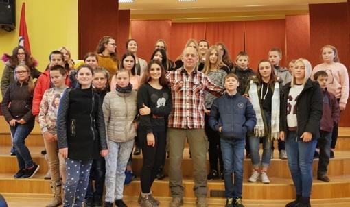 Kupiškio rajono vaikų ir paauglių susitikimas su Gabrieliumi Liaudansku (Svaru)