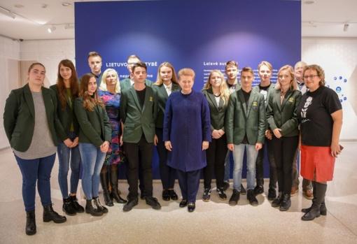 Alsėdiškių gimnazijos projektas sulaukė ir Prezidentės dėmesio