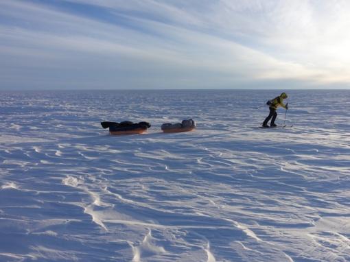 Amerikiečio iššūkis – vienam įveikti Antarktidą