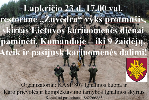Protmūšis kariuomenės dienos proga