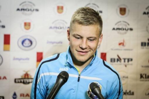 Futbolininkas D. Šimkus: smagu debiutuoti, gaila dėl rezultato