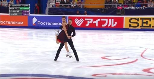 Geriausias rezultatas: Lietuvos dailiojo čiuožimo pora pavergė Maskvos publiką (vaizdo įrašas)