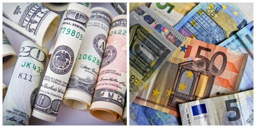 Analitikai: euras dolerio atžvilgiu žymiai susilpnėjo