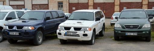 Šiaulių apskrities policija aukcione parduoda per 30 automobilių
